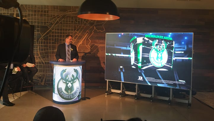 The scoreboard in the new Milwaukee Bucks arena will blow fans' minds, team officials promise