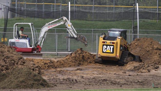 Earthwork has begun for improvements to the Indianola High School baseball field.