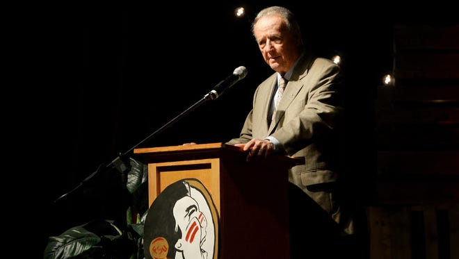 Bobby Bowden was the keynote speaker Tuesday for Sacred Heart of Jesus High School's 2016 Benefit Banquet.