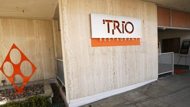 Exterior of Trio Restaurant in Palm Springs.
