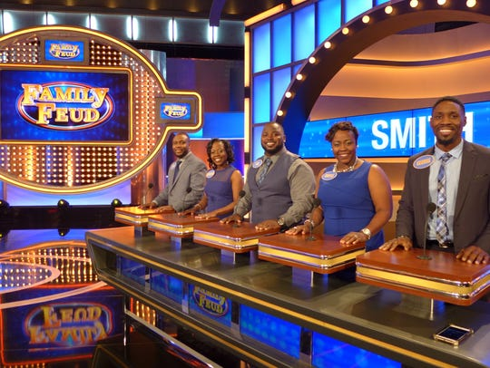 "The Smith family competes on ""The Family Feud,"" shows"