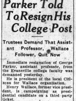 Clipping of The Evansville Courier from April 9, 1948.