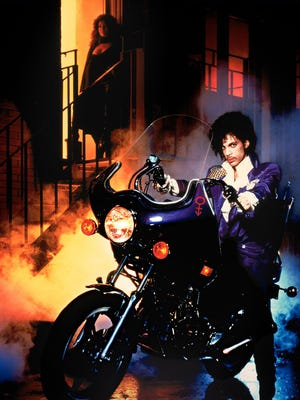 Prince and Apollonia Kotero starred in the 1984 musical PURPLE RAIN.  Credit: Warner Home Video.
