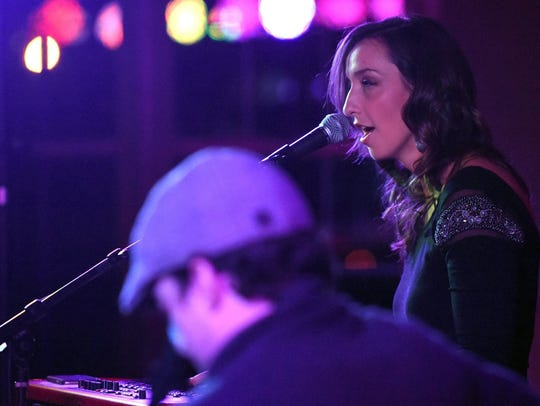 Artist Jenn Bostic performs at the Vox Concert Series.