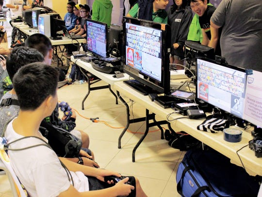 Local enthusiasts compete in a video game competition ahead of Epixcon.