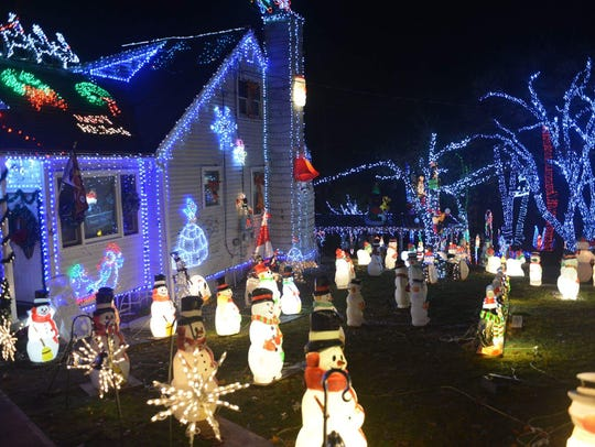 The holiday lights at 16 Luigi Road in Putnam Valley.