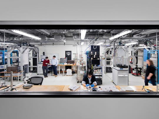 Image of the IBM Q Lab at the T.J. Watson Research