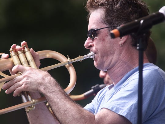 Newark musician Ron Zinn performs on the final day of the Clifford Brown Jazz Festival in Wilmington.