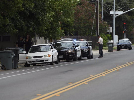 Law enforcement is on hand to investigate a Visalia police officer-involved shooting on Howard Avenue.
