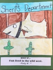 Artwork by Madyson Williard, Grade 3.