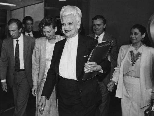 Arizona Gov. Rose Mofford on April 12, 1988.