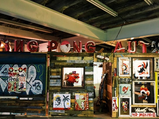 Yok & Sheryo's custom-built Ping Pong Auto Shack exhibit