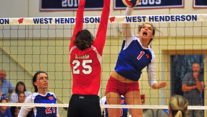 Mary Catherine Ball is one of five returning all-conference players for the West Henderson volleyball team.