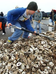One of the Coastal Management grants will fund the continuation of an oyster shell recycling effort.