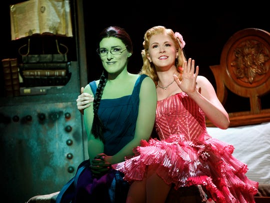 Mary Kate Morrissey as Elphaba and Ginna Claire Mason