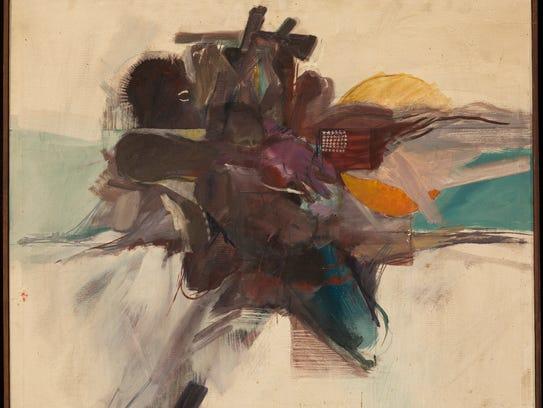 """""""Black Attack,"""" 1968, Allie McGhee, oil on canvas."""