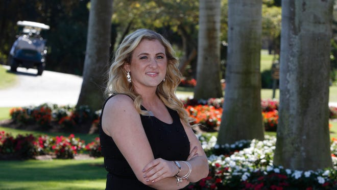 Jennah Liskin, assistant clubhouse/banquet manager at Wyndemere Country Club in Naples.