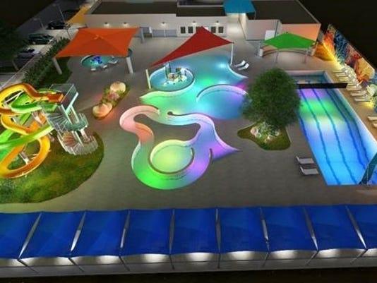 Regional water park rendering