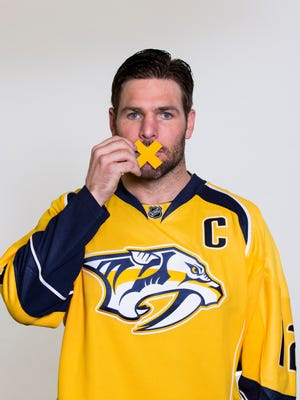Predators captain Mike Fisher was part of the Predators' PSA for the MEND program to end domestic violence.