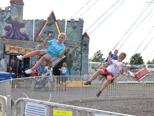 Swings, slides and other rides returned to the Ottawa County Fair in 2016 after only hosting inflatable rides the year before.