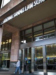 The main entrance of the Arizona Summit Law School,