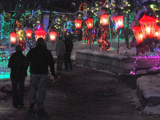 Christmas Magic's half-mile walking trail through Rocky