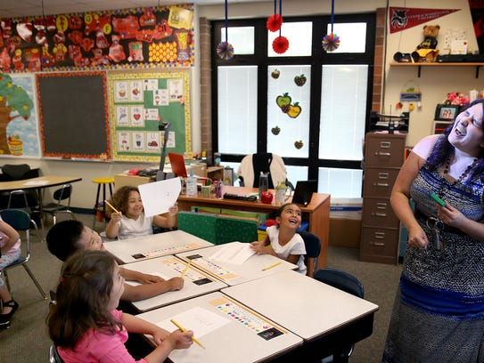Armin Jahr Elementary School first-grade teacher Ashleigh
