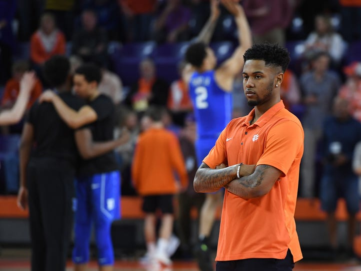 Clemson guard Shelton Mitchell, who suffered a concussion