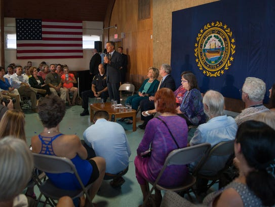 Vermont Gov. Peter Shumlin appeared with presidential