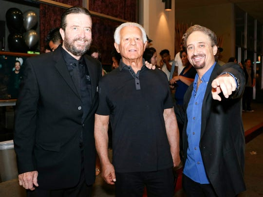 Current owner Mike McCormick, former owner Harvey Izen and former employee Steve Johns, now managing the Palm Canyon Roadhouse, pose at the 40th anniversary celebration of Zelda's nightclub.