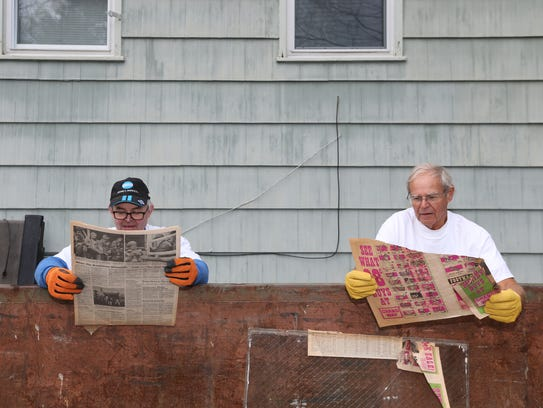 From left, Doug Dickeson or Union Vale and Bill KcKeever
