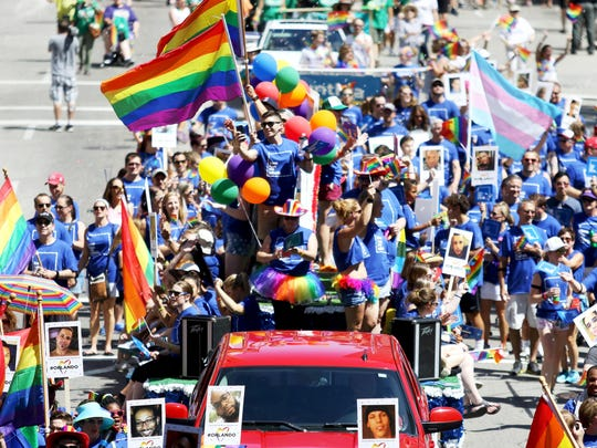 Cincinnati's Pride Parade is the largest LGBT community event of the year.
