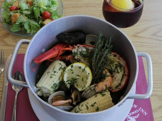 A signature dish at The Crab's Claw Inn in Lavallette is the steamer pot, which is filled with three kinds of crab and other seafood steamed in white wine and garlic.