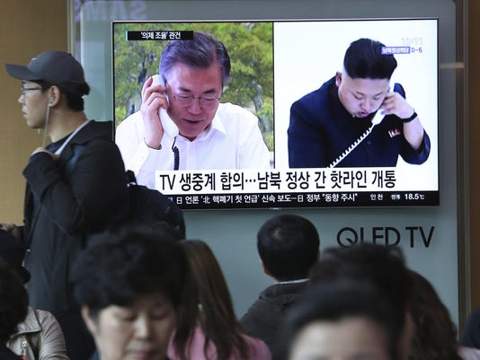 Moon Jae-in,Kim Jong Un