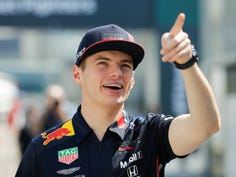 FILE - In this Friday, April 26, 2019 file photo, Red Bull's Max Verstappen of the Netherlands gestures before the first free practice at the Baku Formula One city circuit, in Baku, Azerbaijan. The Dutch Grand Prix will return to the Formula One calendar in 2020 for the first time since 1985. (AP Photo/Sergei Grits, File)