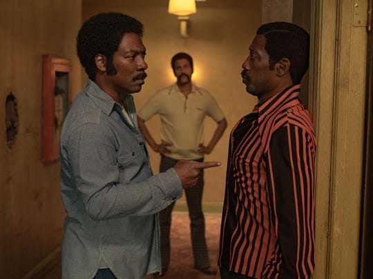 "Keegan-Michael Key, left, Wesley Snipes and Eddie Murphy in ""Dolemite Is My Name."""