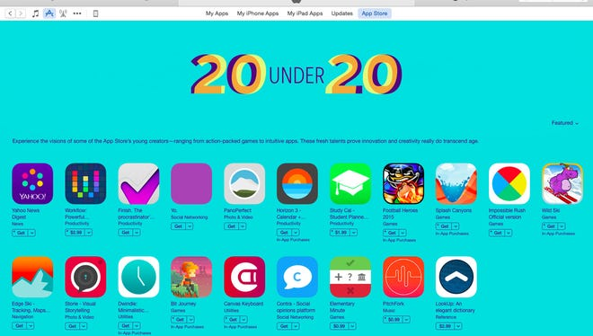 Apple's 20 under 20 promotion highlights app developers under the age of 20 who've created apps in the iTunes app store.