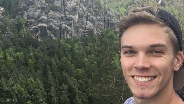 FSU graduate Casey Johnson visits Saxon-Switzerland