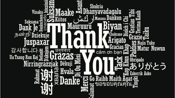 Many ways of saying thank you.