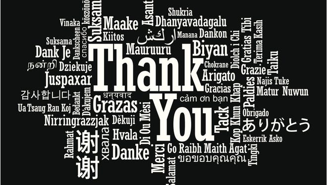 Many ways of saying thank you.