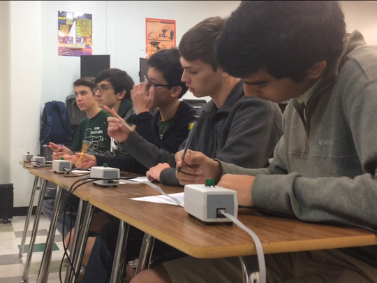 King High School's Science Bowl team prepare for this year's regional competition. The team will compete Saturday in this year's regional Science Bowl in Edinburg. Other teams from Baker Middle School and Seashore Middle Academy also will compete.