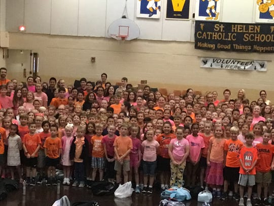 St. Helen Catholic School students, faculty and staff