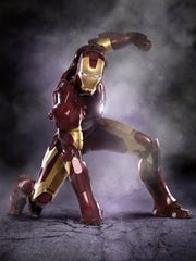 Iron Man appear in a scene from the motion picture