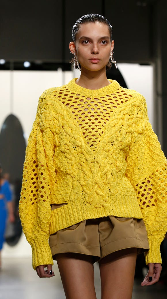 Charlee Fraser brightened the runway at the Prabal