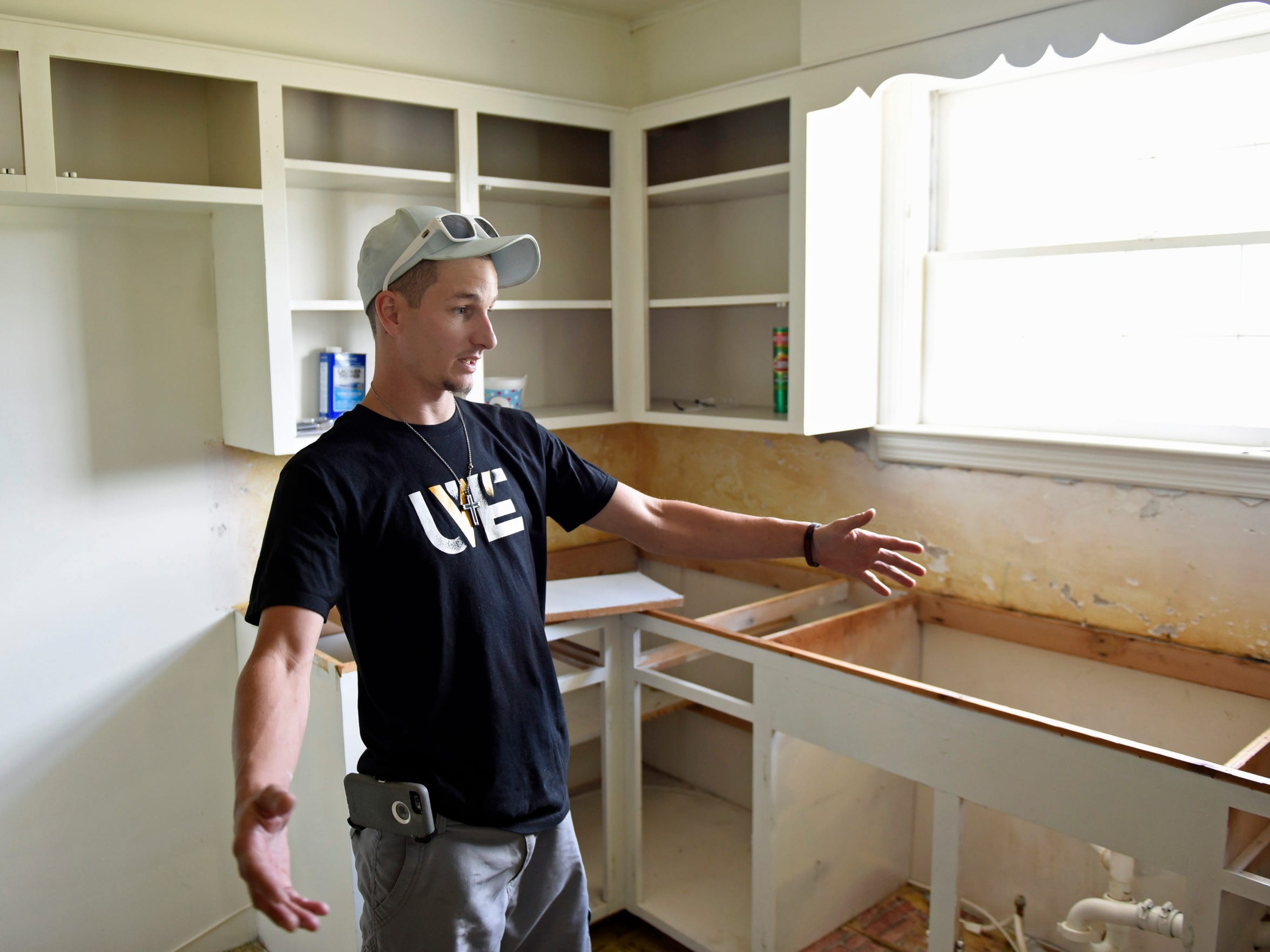 Drew Reed, director of Noah's House, talks about the progress on Wednesday, July 20, 2016 at his recovery addiction recovery house east of Chambersburg.