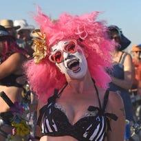 Images from Burning Man on the Black Rock Desert in 2015.