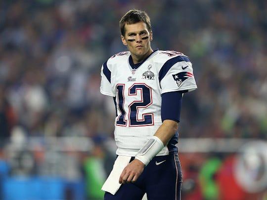 Tom Brady during Super Bowl XLIX at University of Phoenix Stadium on February 1, 2015 in Glendale, Arizona.