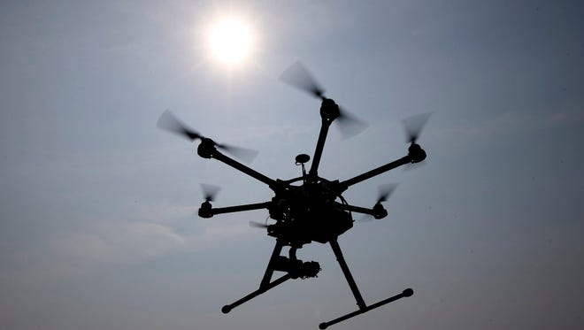 Flying drone.