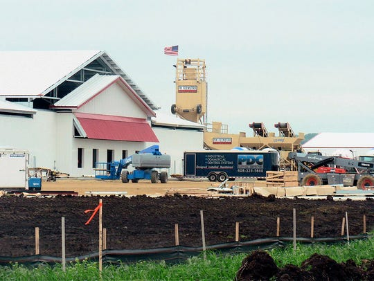 The 4,600 cow Pinnacle Dairy is under construction