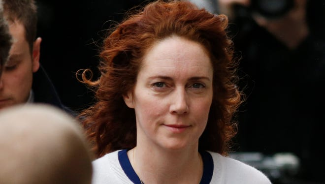 Rebekah Brooks, former News International chief executive, arrives at a London court on Feb. 20 to face charges related to phone hacking.